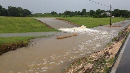 Flooding on Old Medina Road