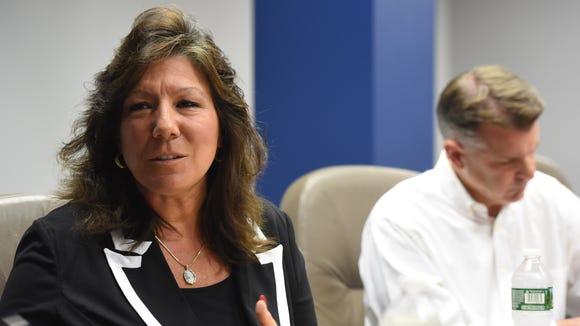 New York State Senator Sue Serino speaks during an