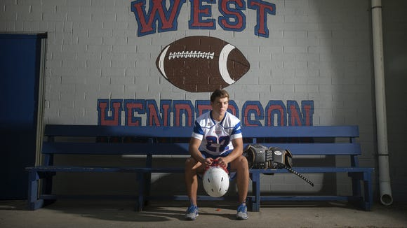 West Henderson senior Stephen Perron has committed to play college football for Centre (Ky.).