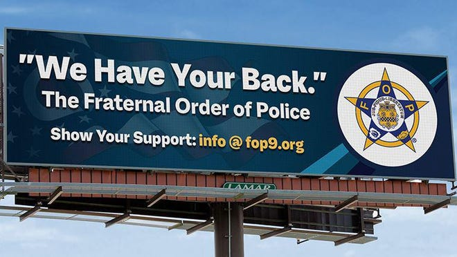 Fraternal Order of Police Capital City Lodge No. 9 has purchased billboards on the city's East Side as a show of support to the community.