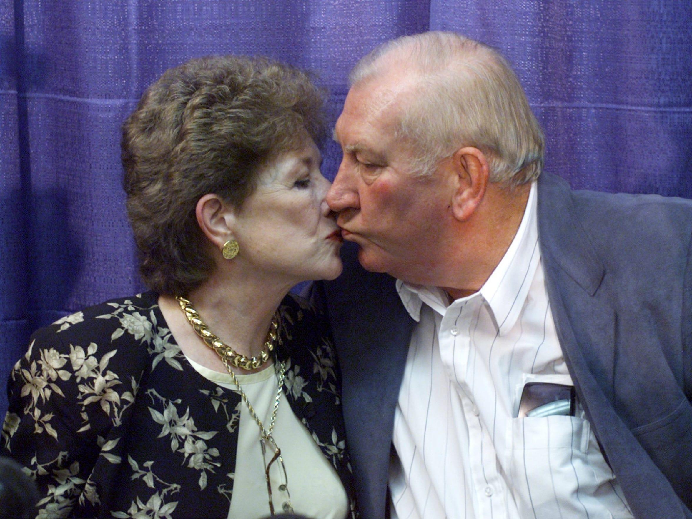 Mary Haskins, Coach Don Haskins