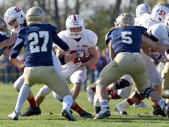 St. John's senior running back Sam Sura, shown here