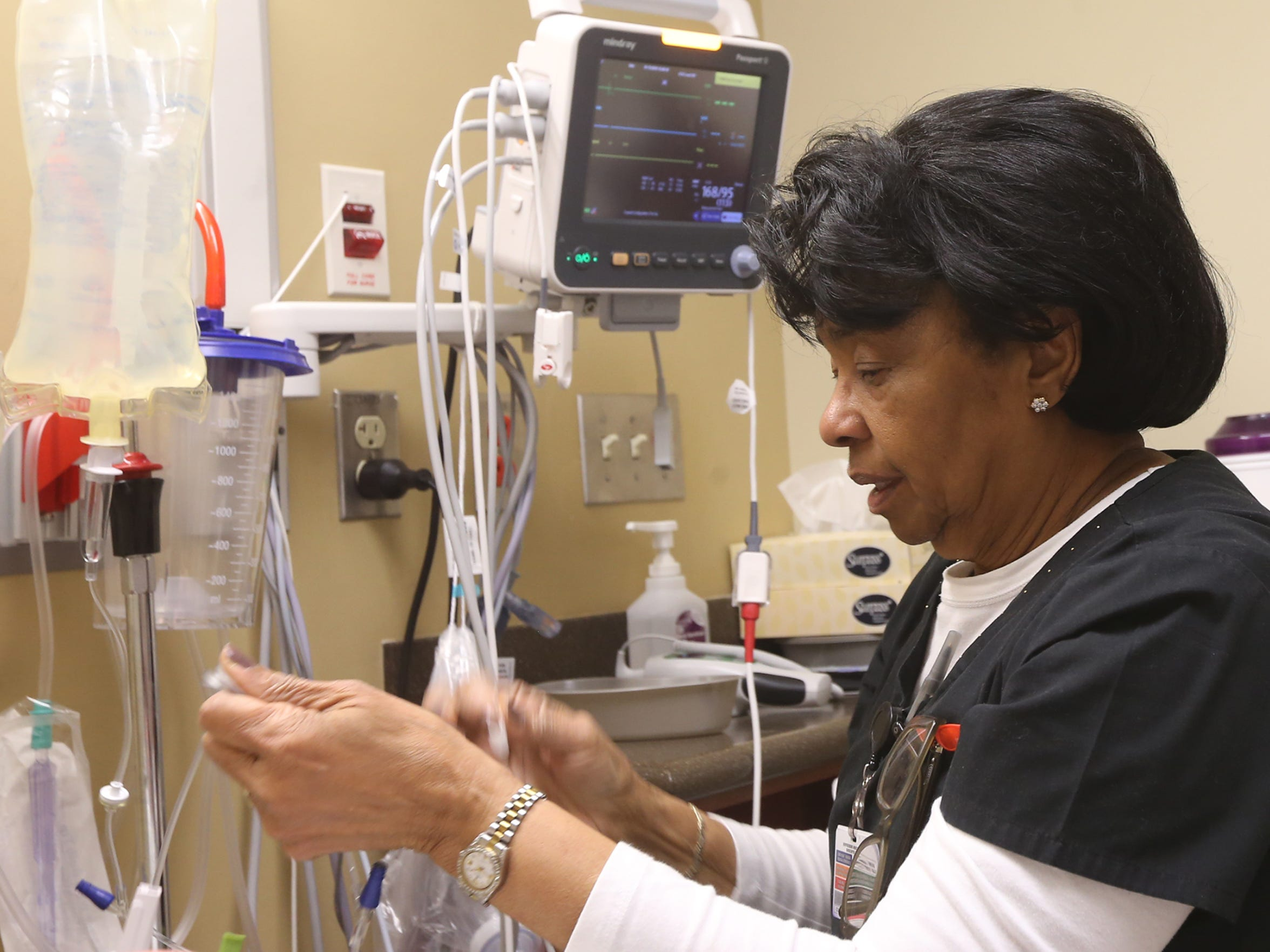Johnnie Phillips, a 78-year-old a nurse at Murfreesboro