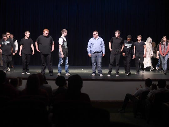 Carroll Academy students performed a stage play for Hal Holbrook, Monday, November 6, at The Dixie Performing Arts Center.