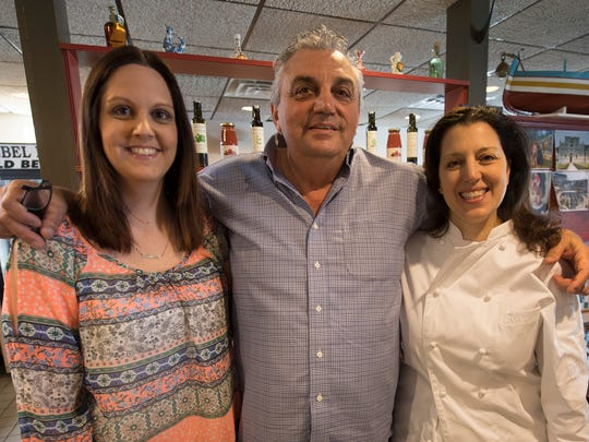 From the left, daughter, Stefania, Sal Ferrante and