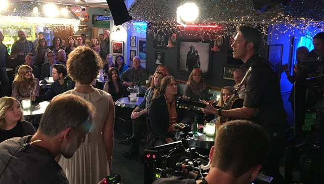 A behind-the-scenes shot of 'Nashvile' shooting season 5 for CMT