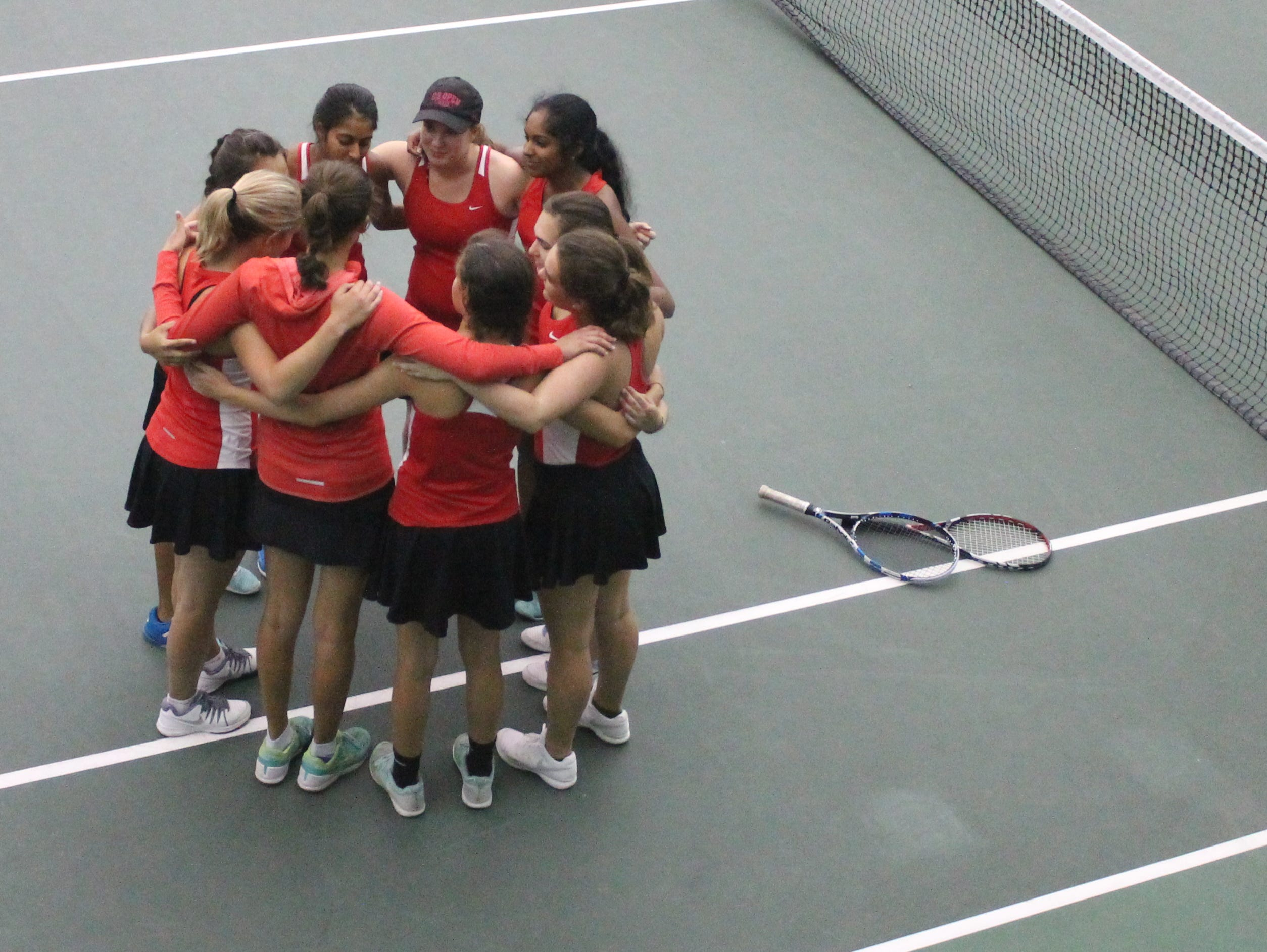 Central High School's girls tennis team became the first group of Bulldogs in any sport to reach a state playoff semifinal in 32 years.