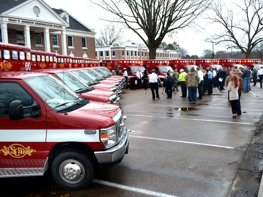 Shelby County new fleet of ambulances