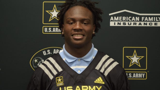 Starkville's Willie Gay received his U.S. Army All-American jersey.