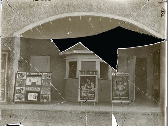 The Crystal Theater was one of three structures of
