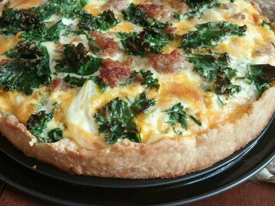 The kale and sausage quiche at Neidhammer Coffee Co. Opening day is June 25.