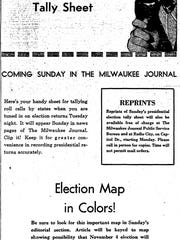 In 1952, The Milwaukee Journal urged readers to keep score on election night with a specially produced, state-by-state ballot.