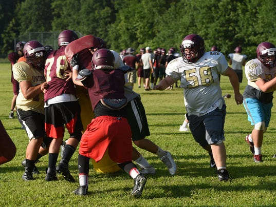Football mini-camp at Arlington HS