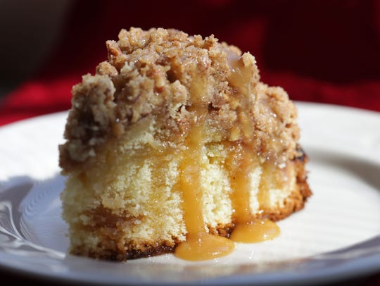 Caramel apple coffee cake.