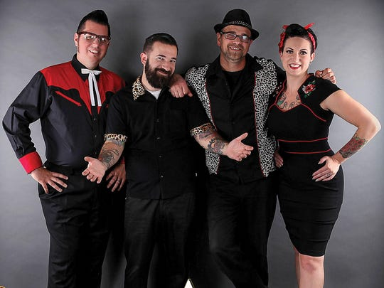Portland rockabilly band The Twangshifters will play Aug. 14 for the River's Edge Summer Series in Independence.