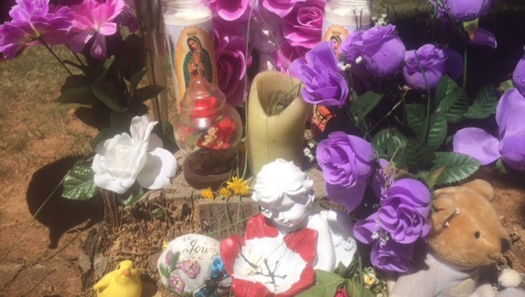 Memorial for Davie County child who died after being