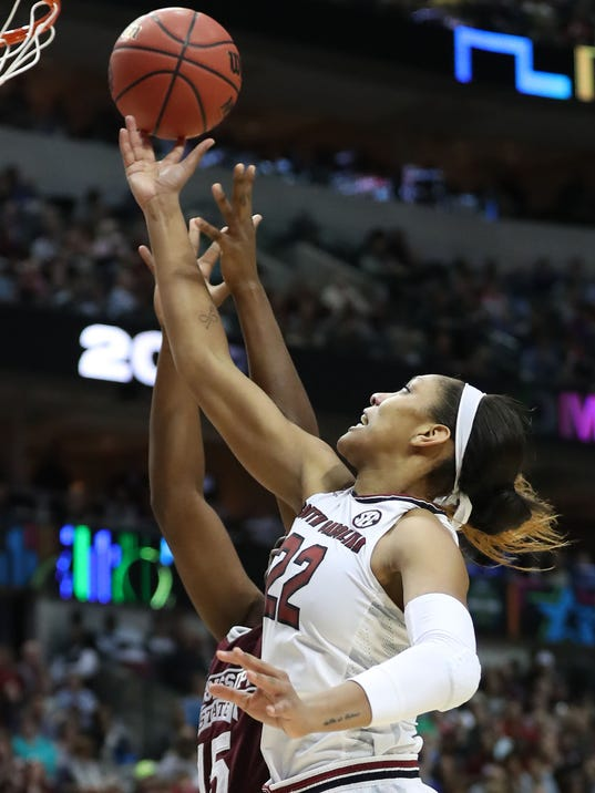 NCAA Womens Basketball: Women's Final Four-Mississippi State vs South Carolina