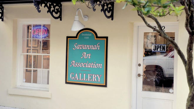 A look at the outside of the Savannah Art Association's gallery. Their 100th Anniversary online auction will be held completely virtually, though.