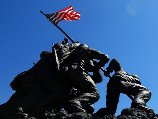 More than 100 people attended an Iwo Jima remembrance ceremony Sunday at the Veterans Memorial at Four Mile Cove Ecological Preserve in Cape Coral. U.S. Marines captured the island of Iwo Jima from the Japanese Imperial Army during in a battle that raged from Feb. 19 to March 26, 1945.