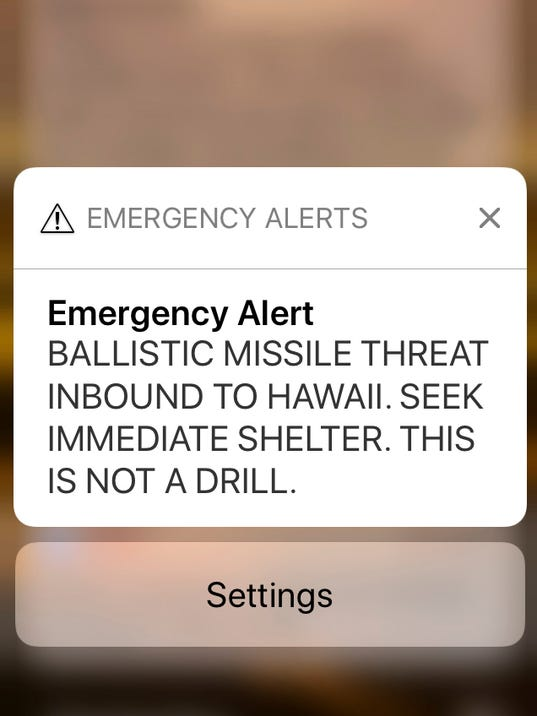 False missile alert