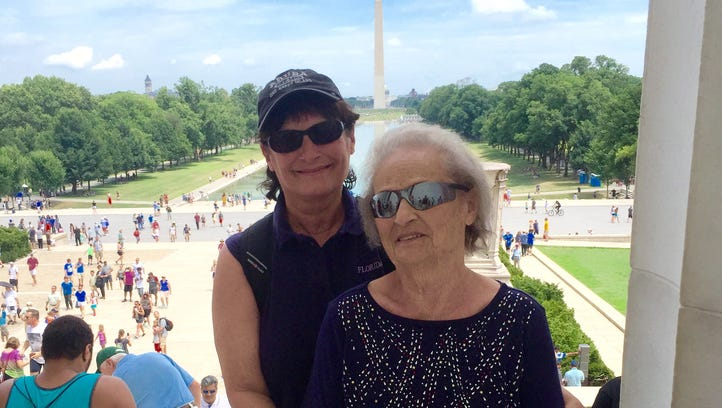 Britt Kennerly and her mother, Helen, are pictured in Washington, D.C.