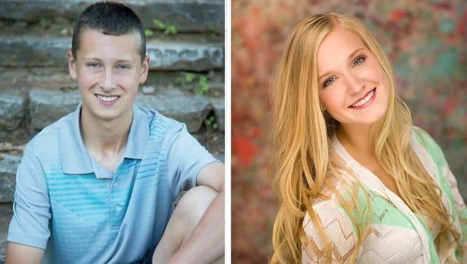 Scholars of the Week Evan Krug and Maria Macco of Green Bay Southwest High School.