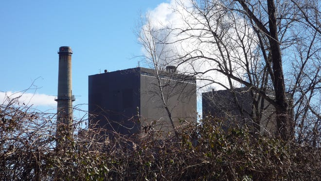 A plume of steam emerges from the smokestack at the Bowline Generation Station in West Haverstraw.