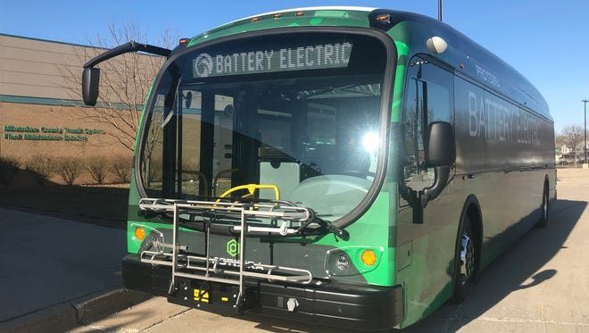 Milwaukee County Transportation System officials proposed buying up to 11 battery electric buses made by Proterra for the county's Bus Rapid Transit system.