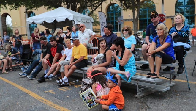 Downtown Fort Myers was busy with visitors preparing for the 2017 Edison Festival of Light Grand Parade Saturday, February 18. In addition to the evening parade, other events included crafts on the river, music at Centennial Park, a 5k run and evening fireworks.