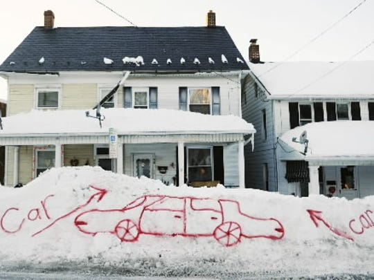 This image taken by Kate Penn is one of the more memorable moments from one of the two big snows in February 2010.