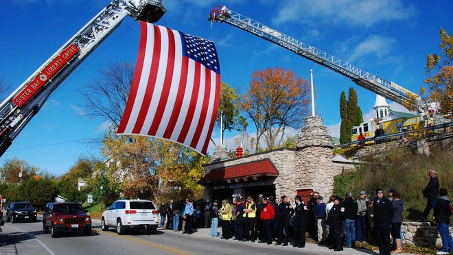 All Northern Door fire departments participated in the dedication of the Ephraim Fire Museum Saturday.