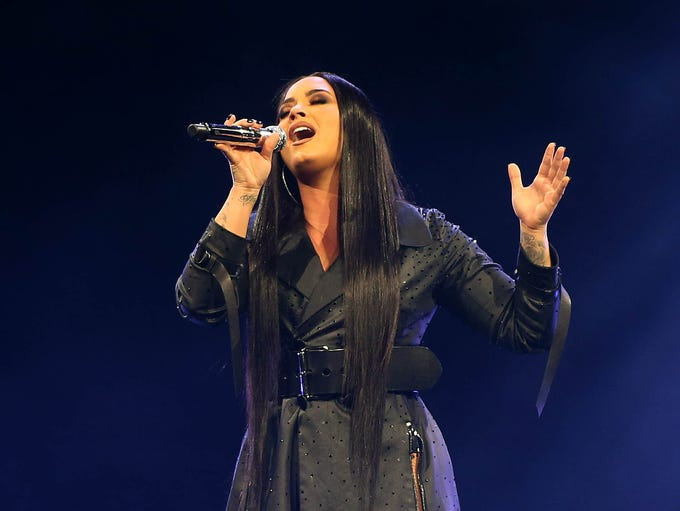 Demi Lovato performs during her Tell Me You Love Me