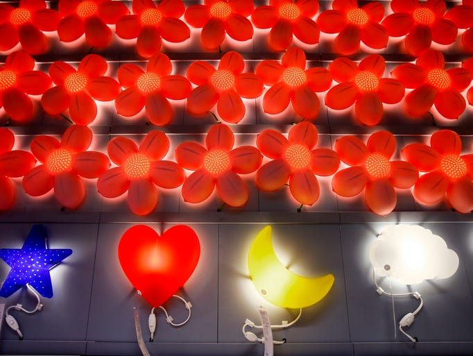 Colorful light displayed at the new IKEA Memphis Store