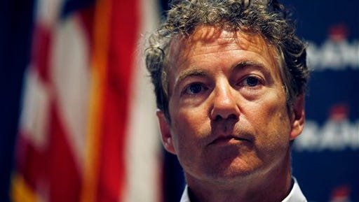 Republican presidential candidate Sen. Rand Paul, R-Ky., speaks during a political event Monday, June 29, 2015, in Mesquite, Nev. (AP Photo/John Locher)