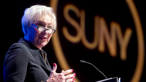 State University of New York Chancellor Nancy Zimpher delivers the State of the University address on Jan. 11, 2016 in Albany.