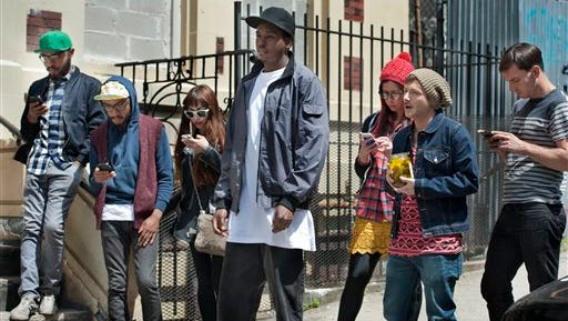 """In this image released by TruTV, from left, Kenny Lucas, Keith Lucas , Kevin Barnett, center, Jennifer Bartels and Josh Rabinowitz appear in a scene from """"Friends of the People,"""" premiering Tuesday at 9:30 p.m."""