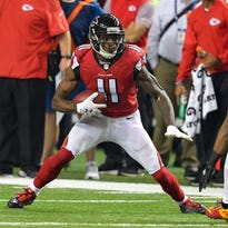 In 12 games this season, the Falcons' Julio Jones has had four games with fewer than 36 receiving yards and seven of over 100.