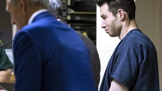 Max Citrin appears in court with attorneys Wednesday, March 11, 2020, charged with multiple counts of insurance fraud.