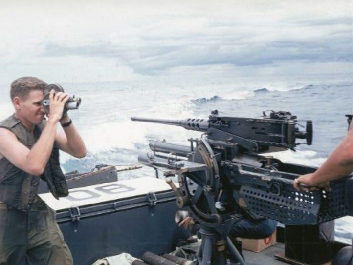 Cpl. William T. Perkins Jr. films U.S. Navy sailors
