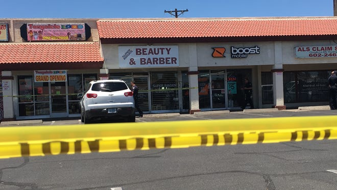 A woman died at Super Imagen Beauty & Barber in Phoenix on June 17, 2016. Phoenix police are investigating it as a homicide.