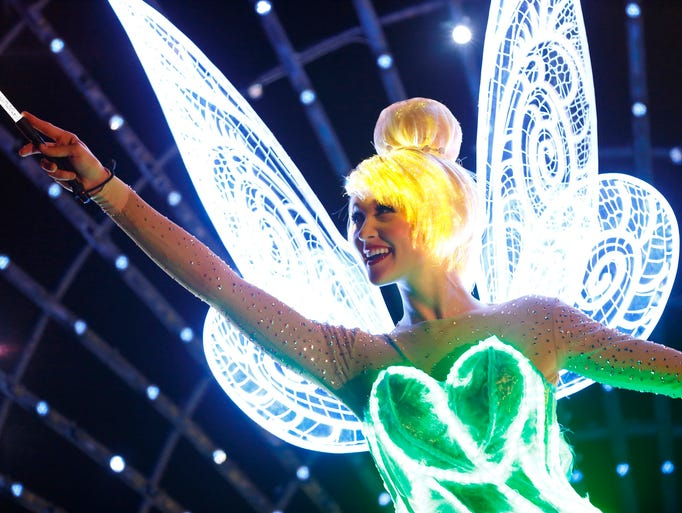 TINKER BELL LIGHTS THE WAY IN 'PAINT THE NIGHT' (ANAHEIM,
