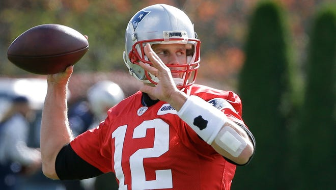 Tom Brady is active and expected to play this afternoon against the Jets. (AP Photo/Steven Senne)
