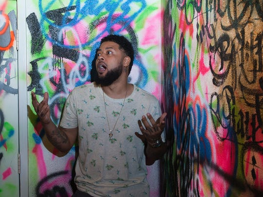 Tattooist Angel Gutierrez said graffiti is one of his many influences as an artist. He will bring that style and more to One Love Tattoo Studio & Art Gallery on Landis Avenue when it opens.