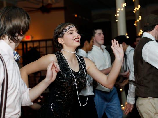 Caroline Bleick dances during Asheville School's Jazz