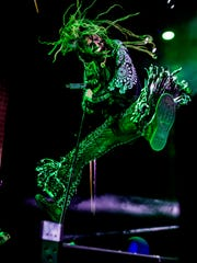Rob Zombie performing in Phoenix.
