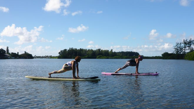 SUP yoga is just one of your active options this weekend on the Space Coast.