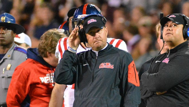 Ole Miss head coach Hugh Freeze will be one of three coaches joining ESPN's coverage of the national championship game on Monday.