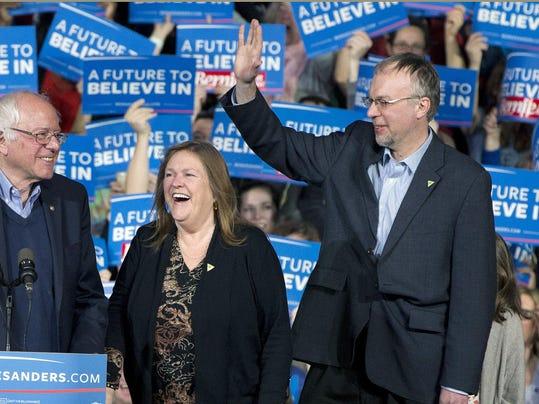 Bernie Sanders,Jane Sanders,Levi Sanders