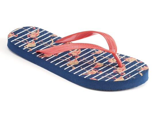 These flip-flops are $3.99 at Kohls and www.kohls.com