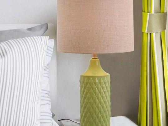 Textured geometric lamp, $79.99, Kohl's.